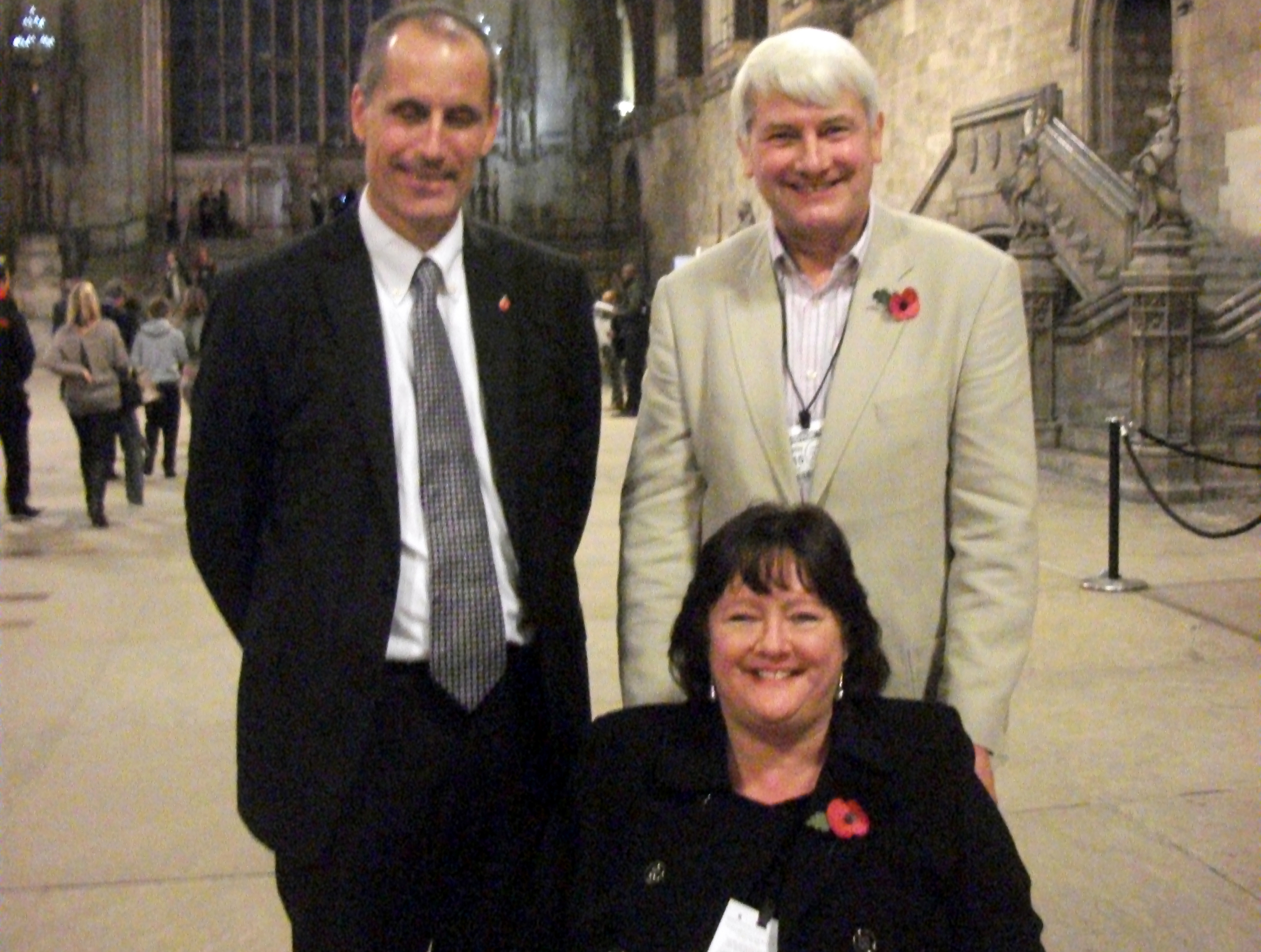 Sefton Central Labour MP Bill Esterson with Susan and Stephen Handley who visited Parliament to promote the Be Clear on Cancer campaign.
