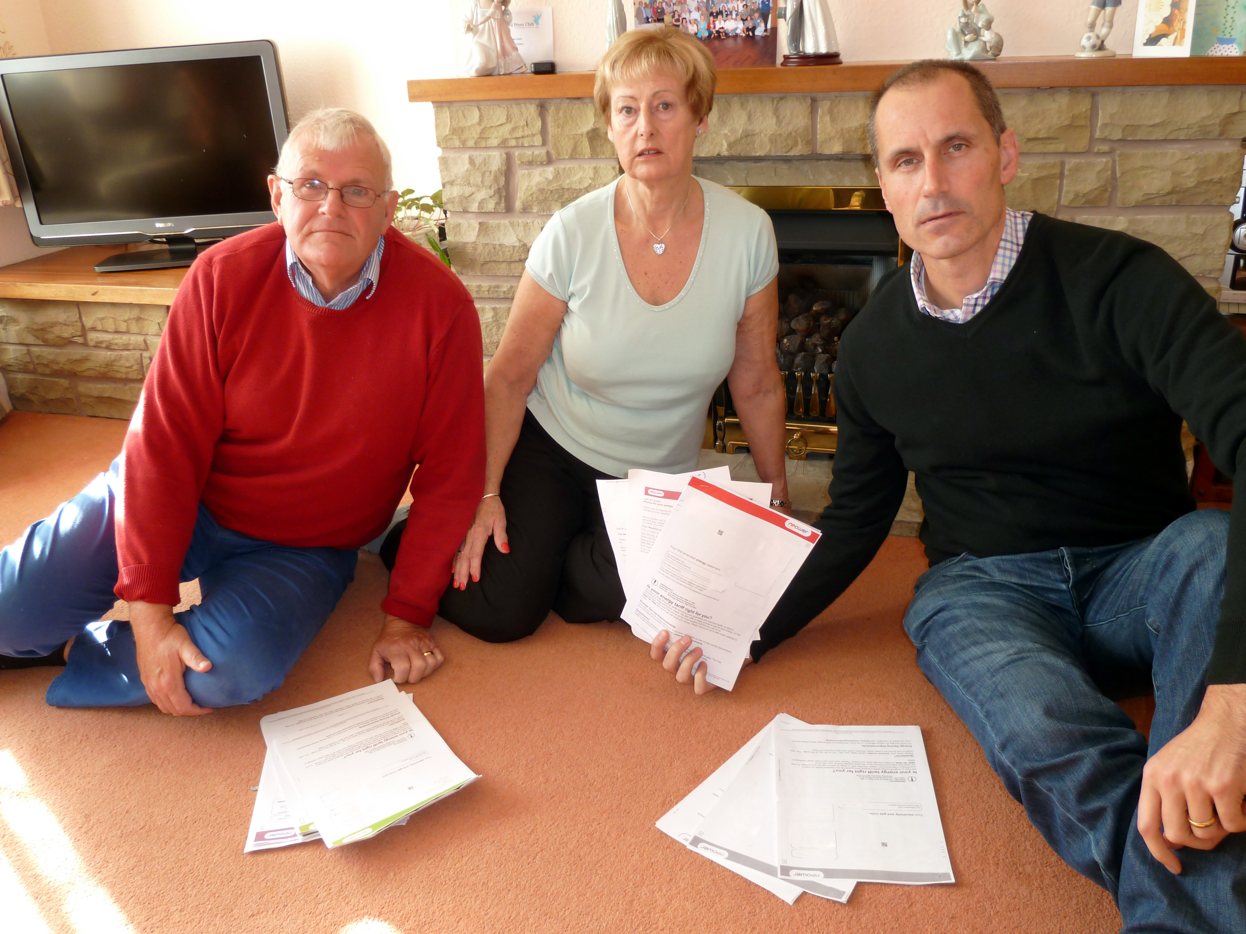 Sefton Central Labour MP Bill Esterson with Jeanette and Mike Smith