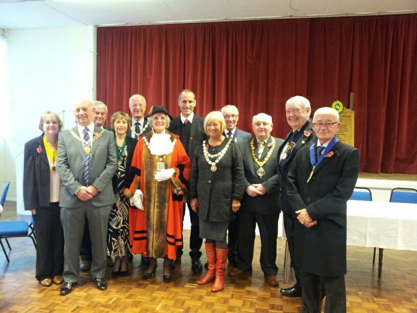 Sefton Central Labour MP Bill Esterson and Aintree Parish Council chairman Cllr Peter Gill with dignitaries from throughout Sefton at Aintree Village Parish Council Civic Service on Sunday.