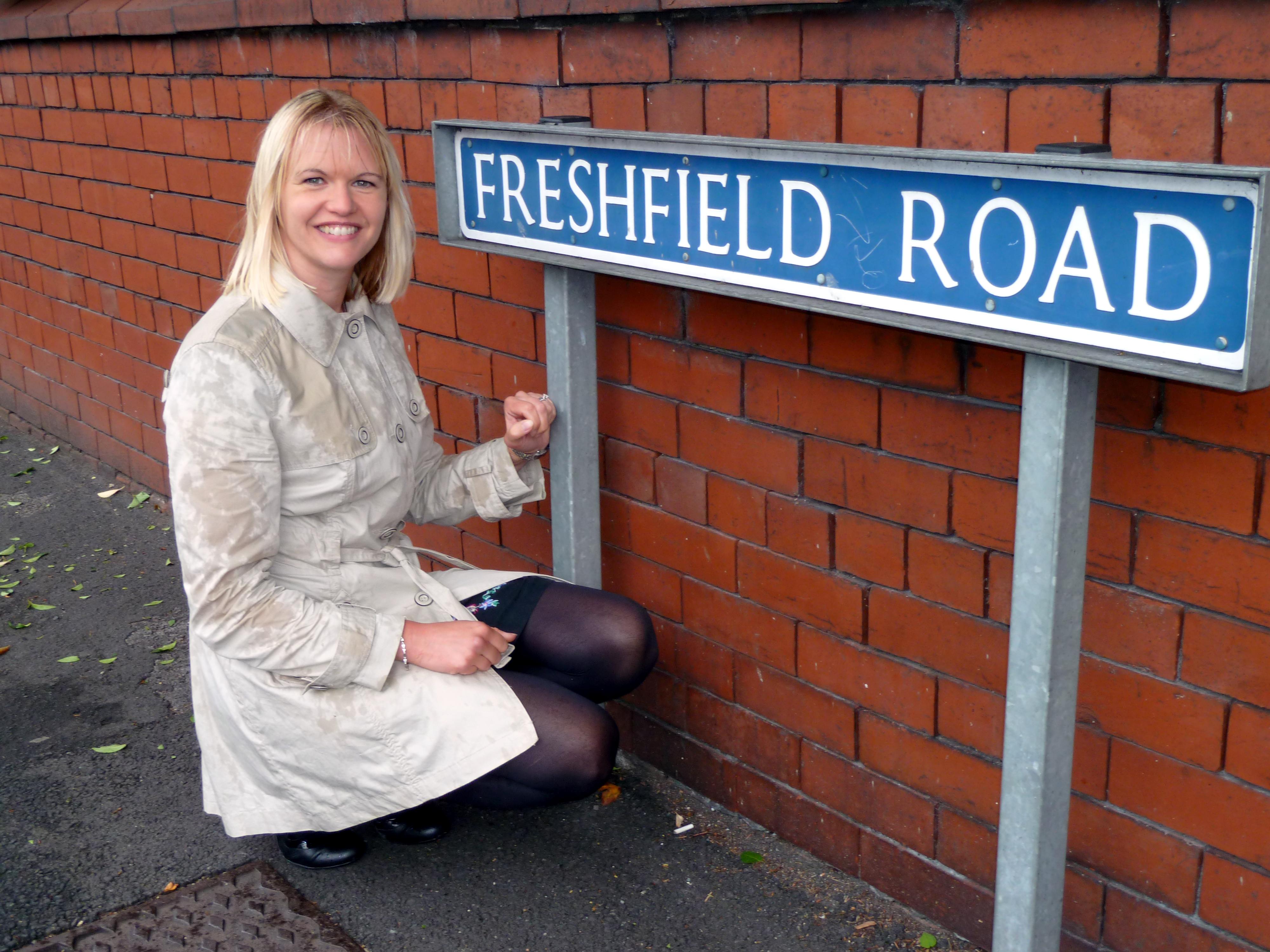 Formby Labour Councillor Nina Killen on Freshfield Road.