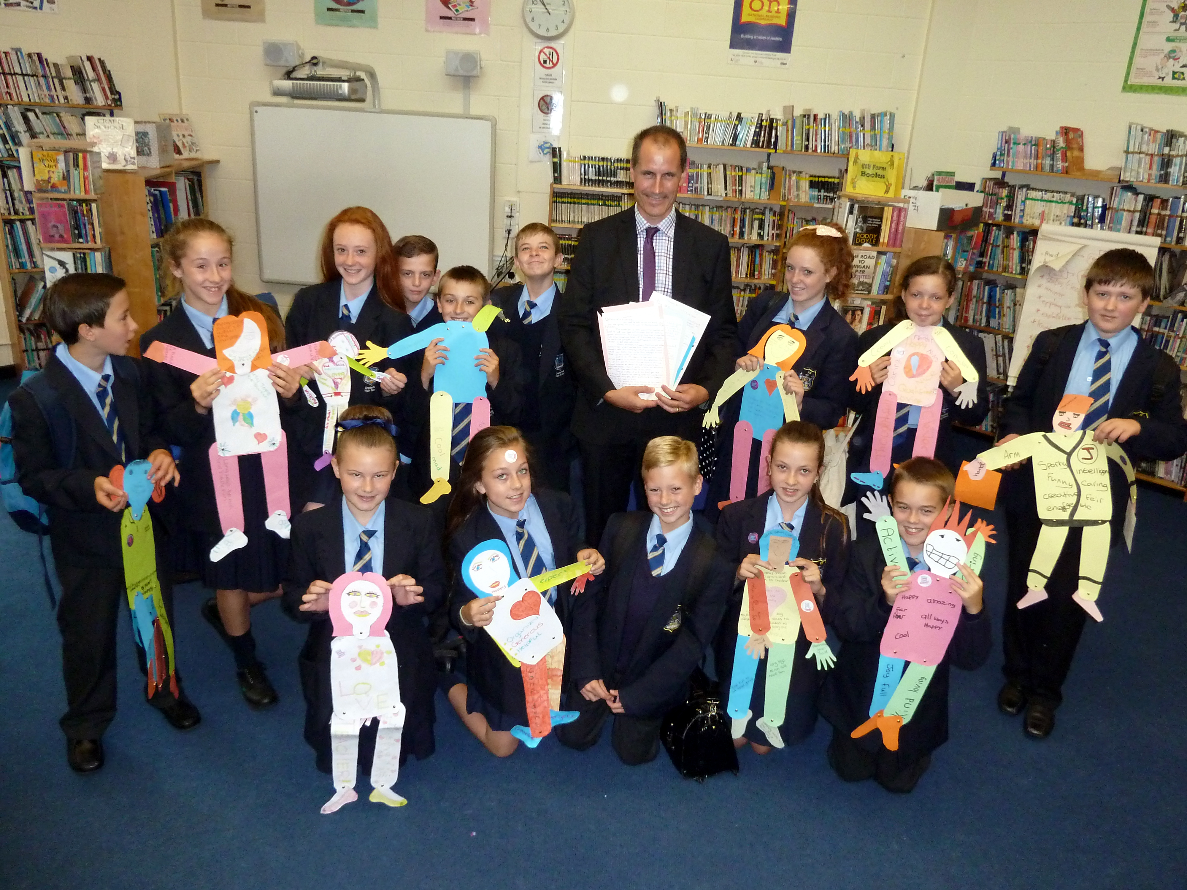 Sefton Central Labour MP Bill Esterson meets Year 8 pupils from Chesterfield High to talk about their campaign to get the world's 61m young people who don't go to school into the classroom.