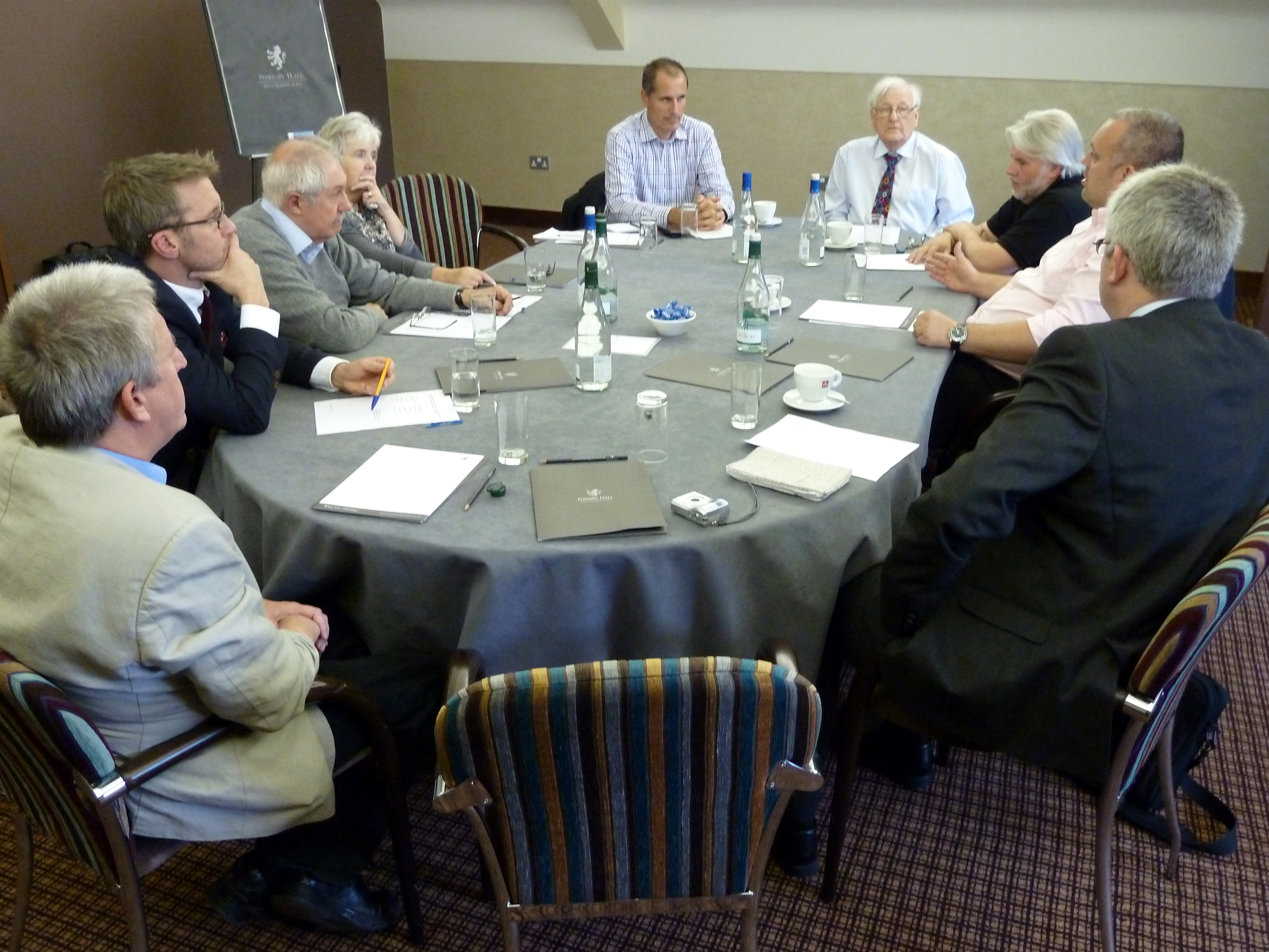 Sefton Central Labour MP Bill Esterson and Len Collinson, with Tim Fisher from Coffee Culture UK, Ian Gordon from iKO Ventures, Thomas Kirkby from Rialto Services, Kevin Long from The Kitchen Sink, Catherine and Stuart Sime from Catherine Loreto Sime and FCB development manager for Mersyeisde, West Cheshire and Wigan, Phil McCabe.