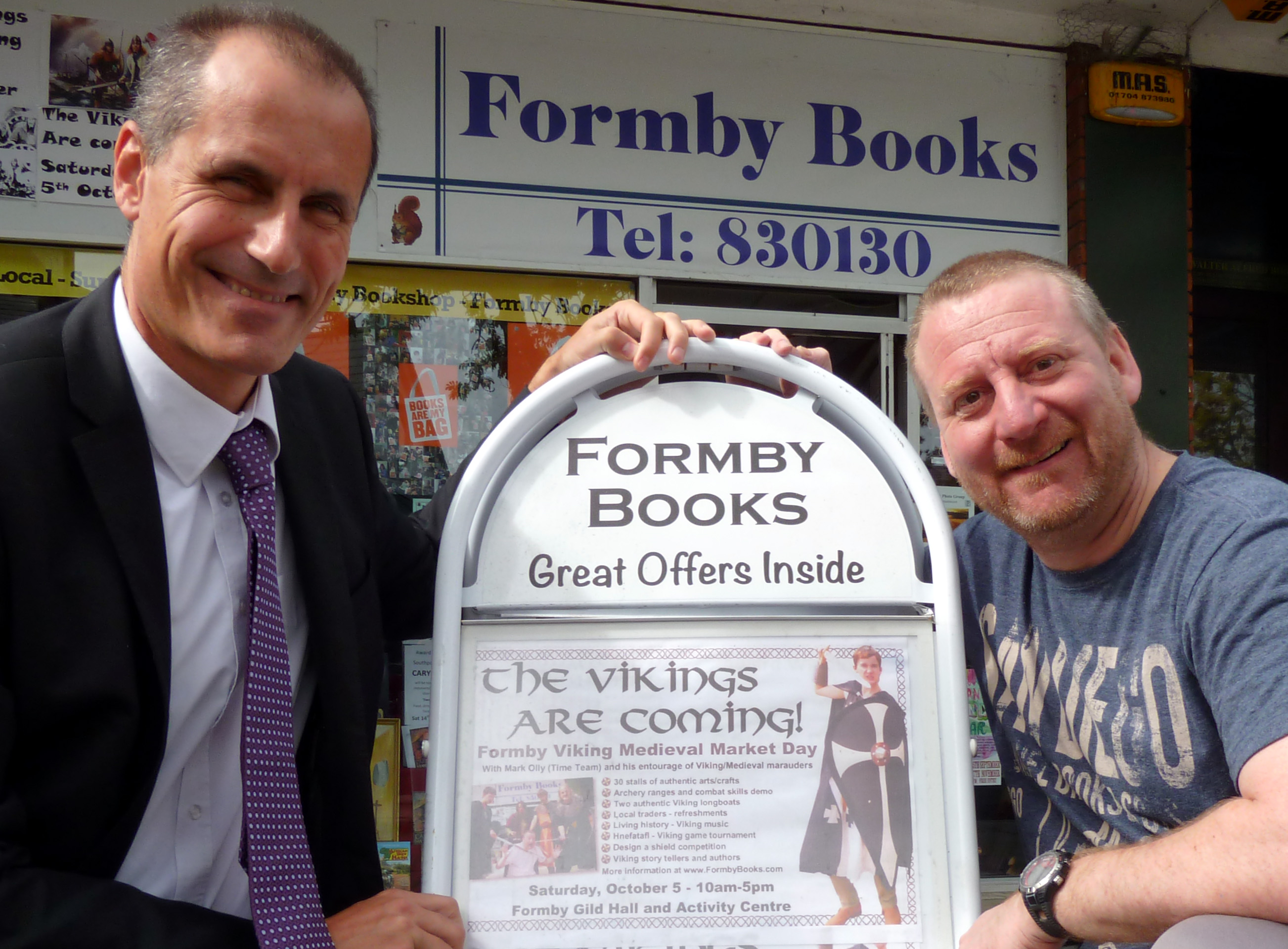 Sefton Central Labour MP Bill Esterson looks forward to Formby Viking Medieval Market Day with one of the organisers Tony Higginson.