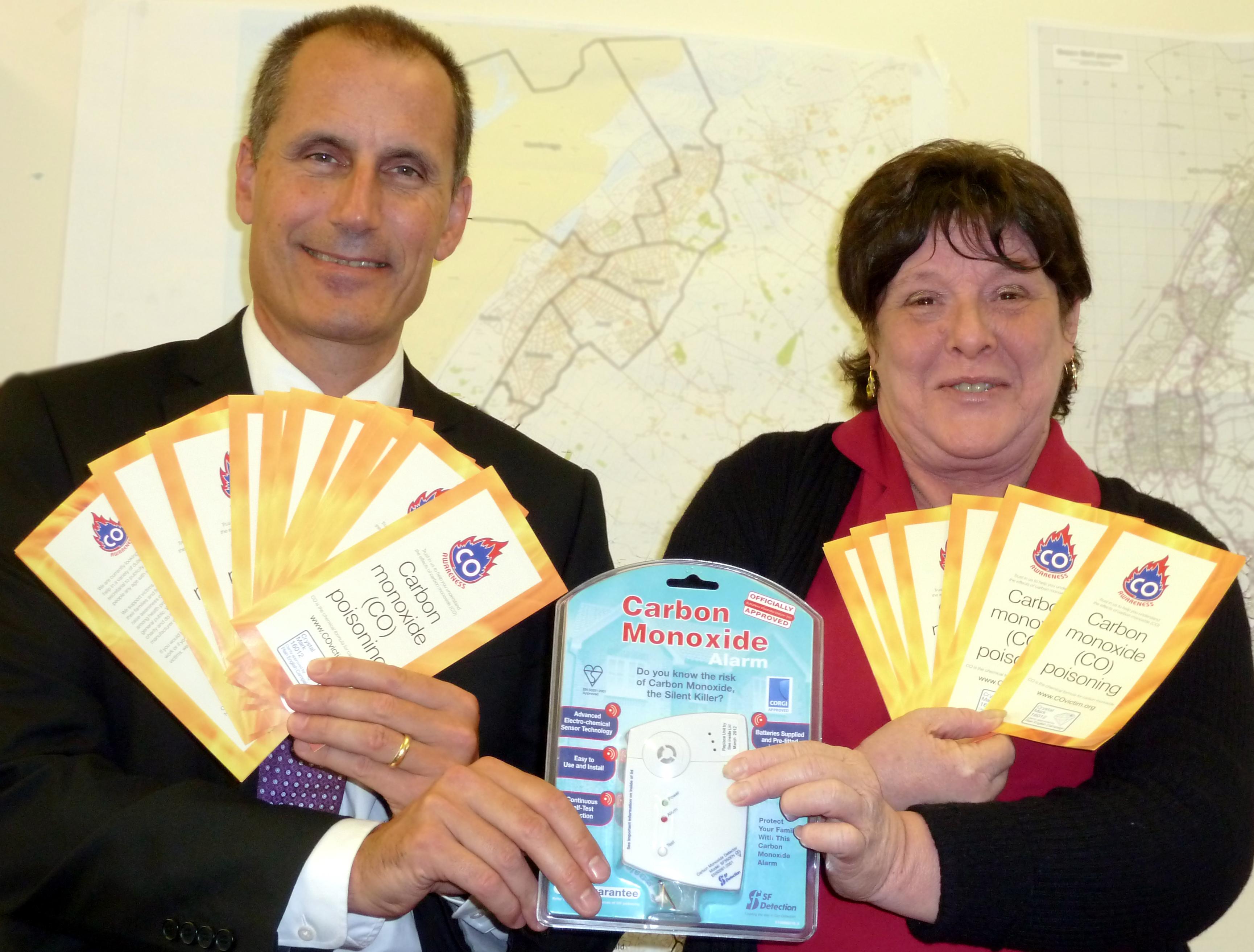 Sefton Central Labour MP Bill Esterson with Carbon Monoxide Awareness founder Lynn Griffiths.
