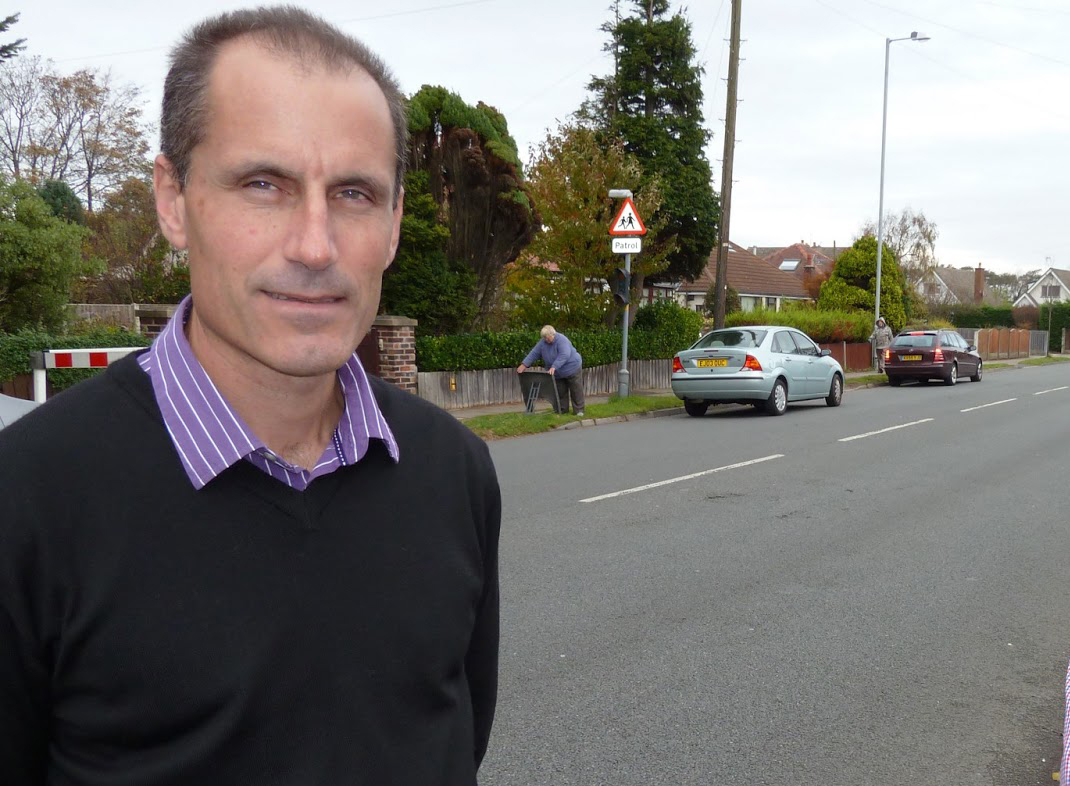 Bill Esterson on Southport Road in Formby which will not have the new 20mph limit