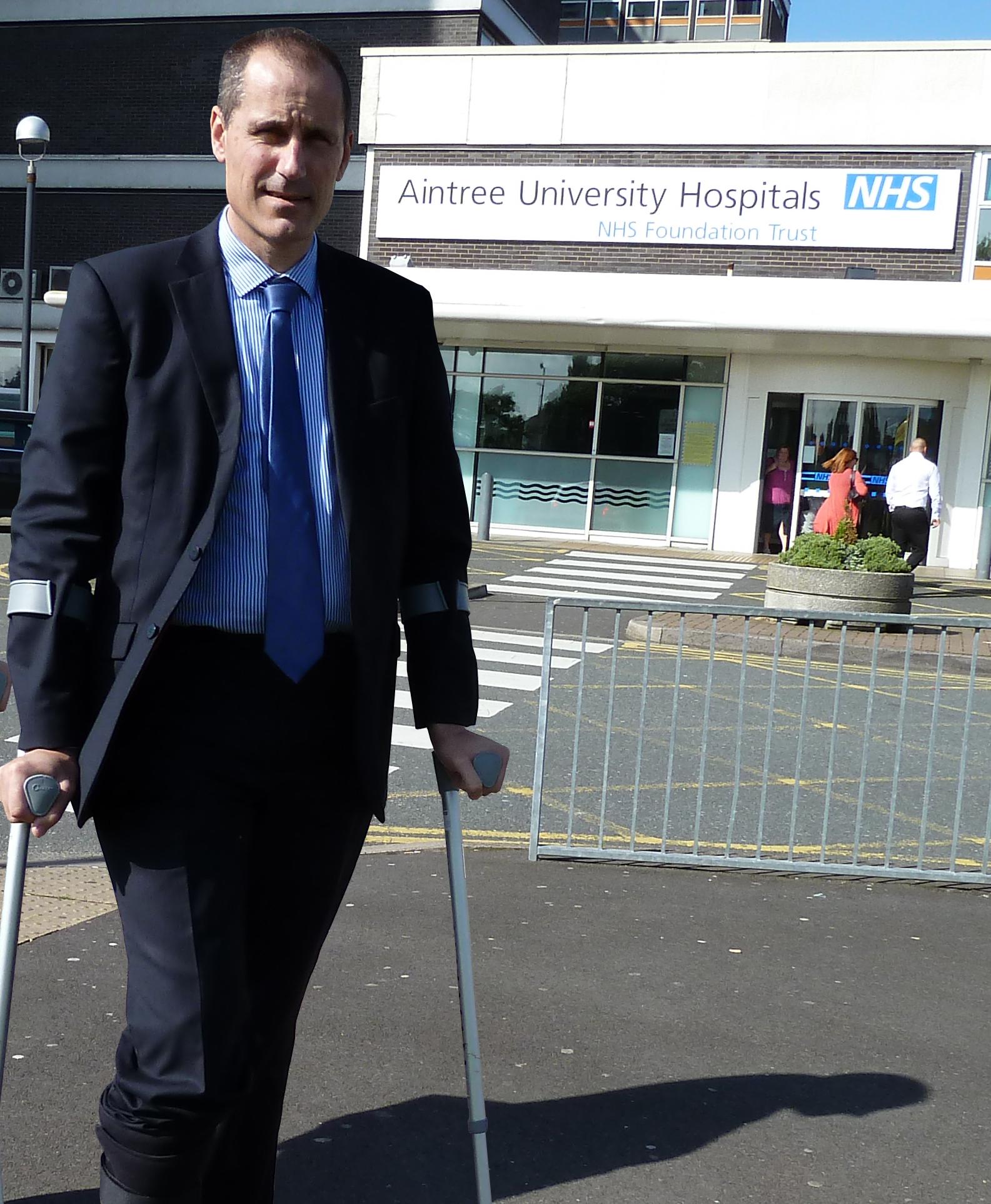 Bill Esterson at Aintree Hospital