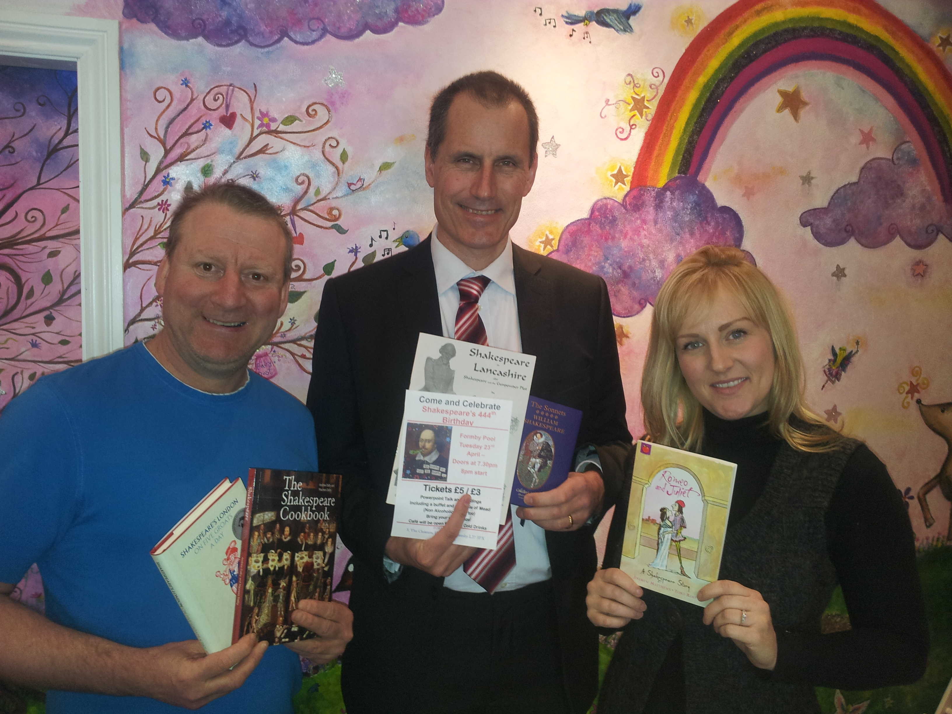 Sefton Central Labour MP Bill Esterson with Formby Books' Tony Higginson and Vicky Abban.