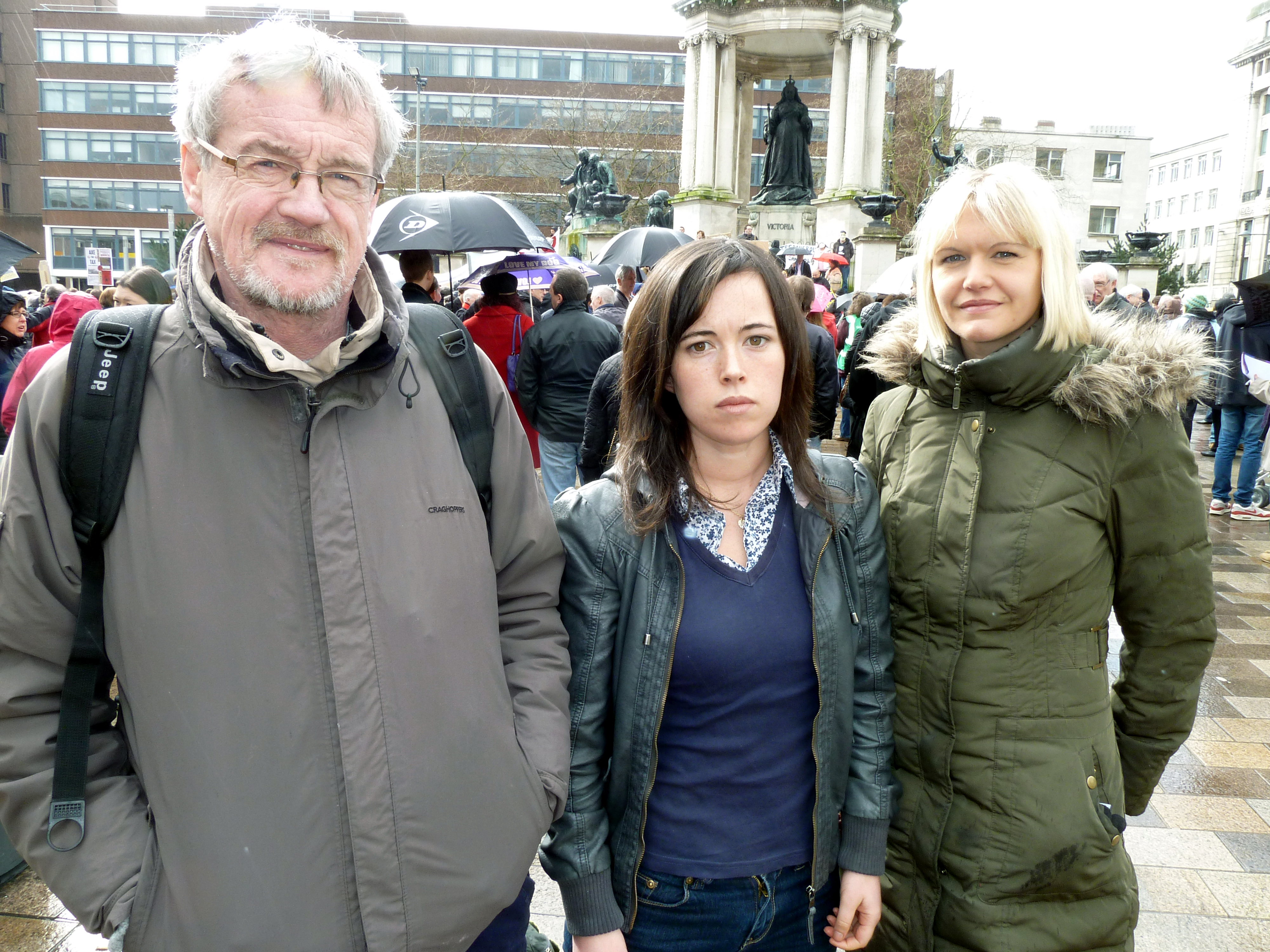 Liverpool Bedroom Tax demo organisers Debra Power and Claire Chappel from Lydiate.