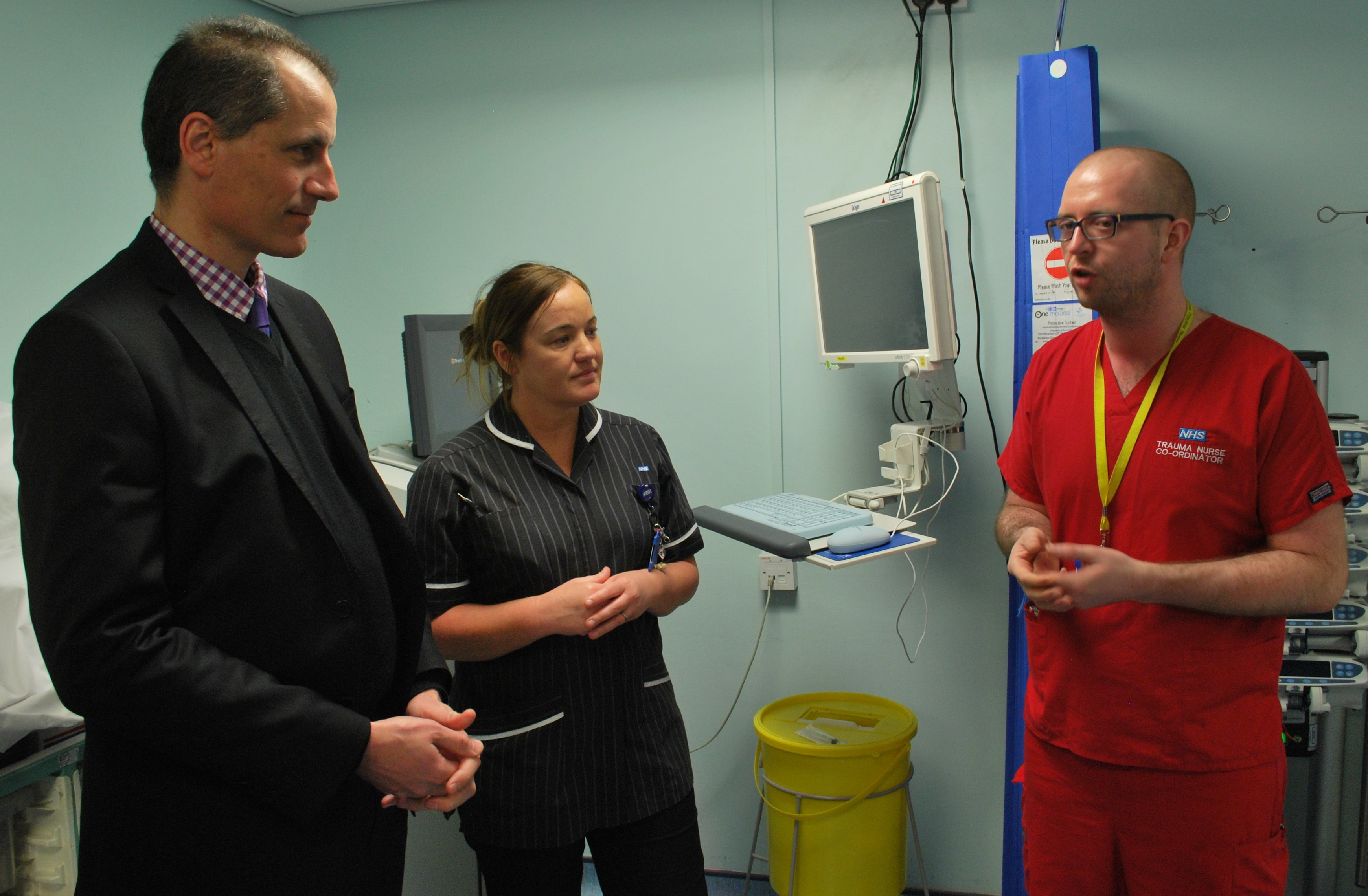 Sefton Central Labour MP Bill Esterson during his visit to Aintree University Hospital
