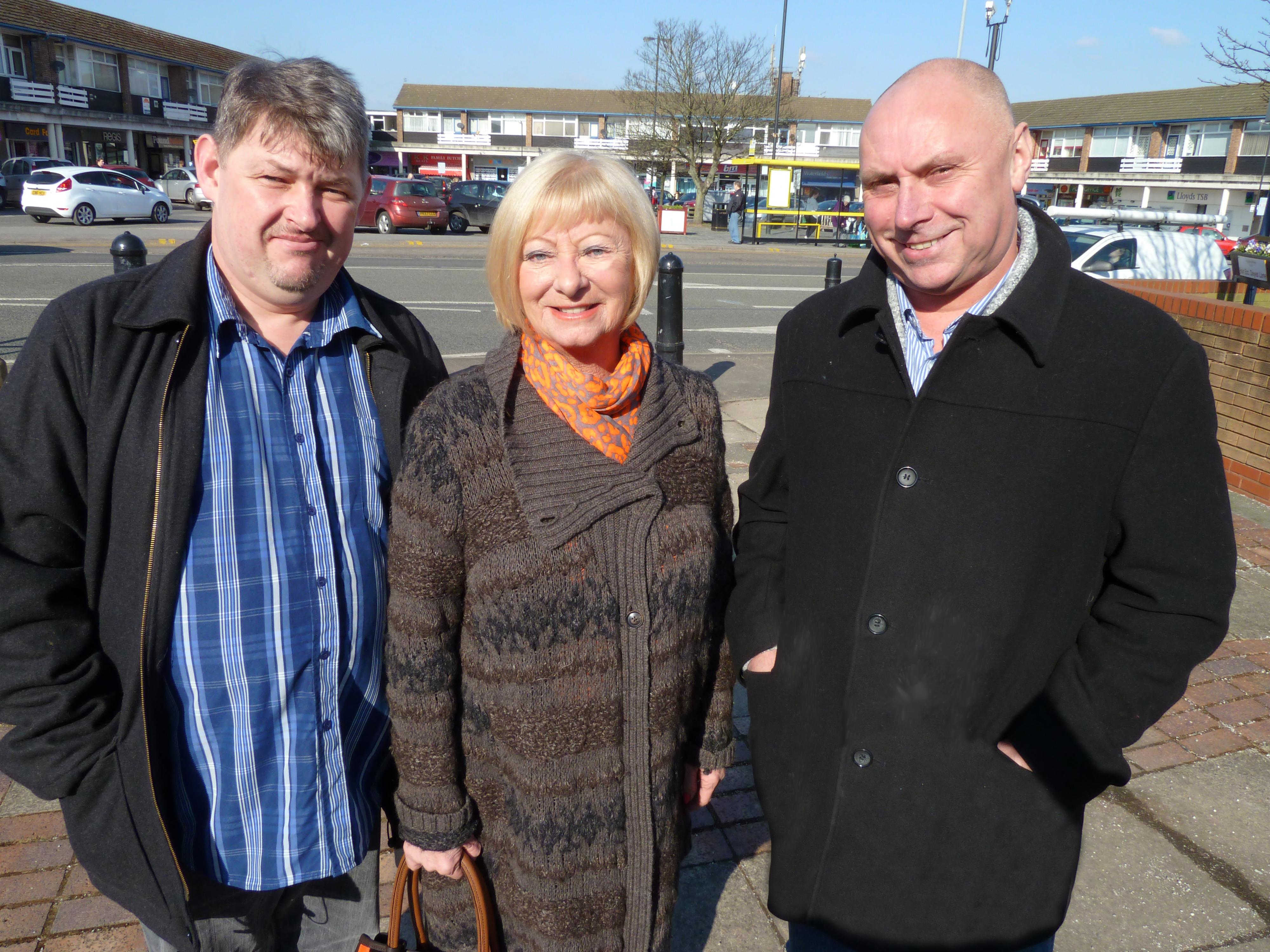 John Jarvis, Joan Deegan and Dave Jones