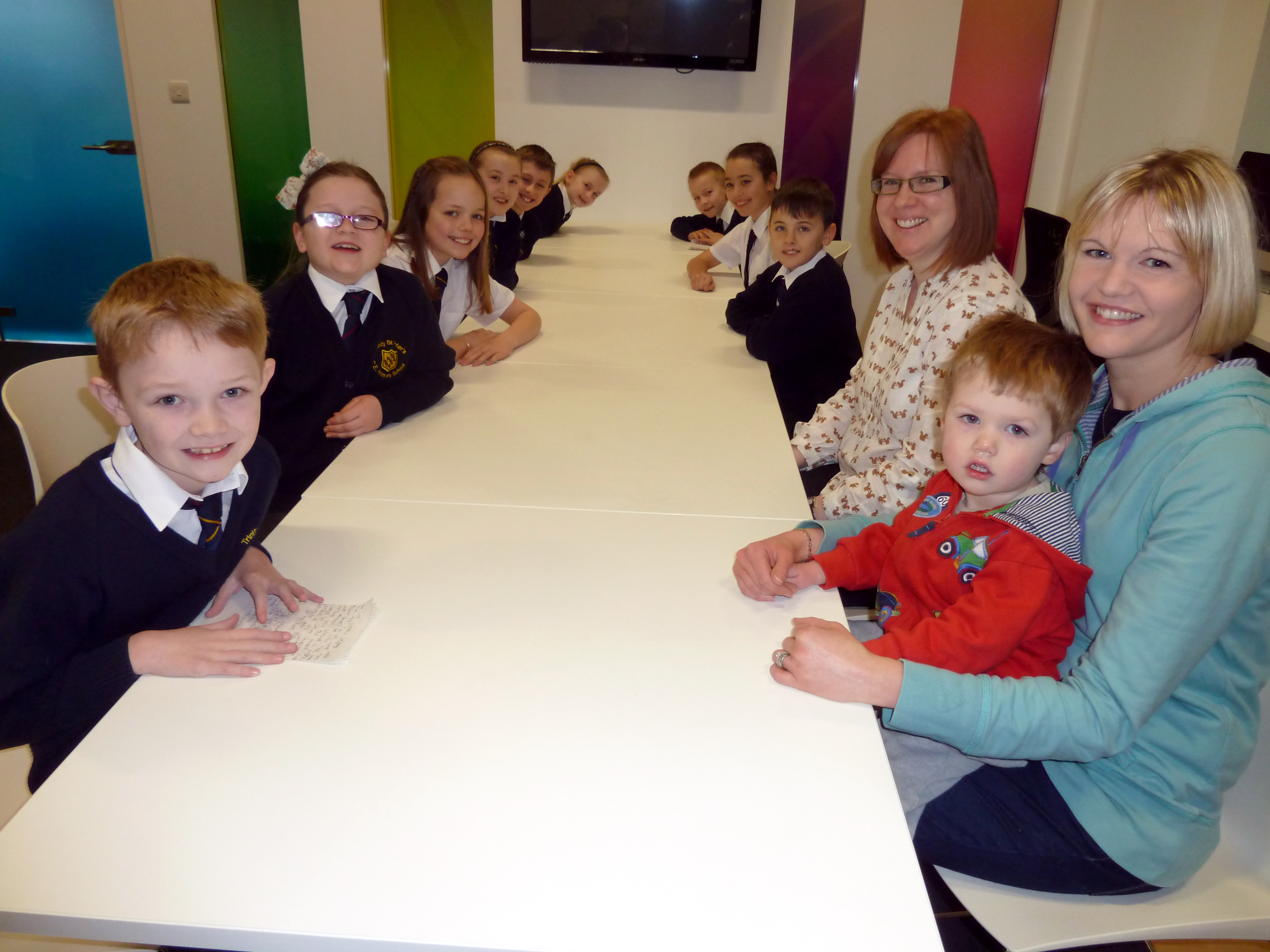 Cllr Nina Killen attends Trinity St Peter's School Council