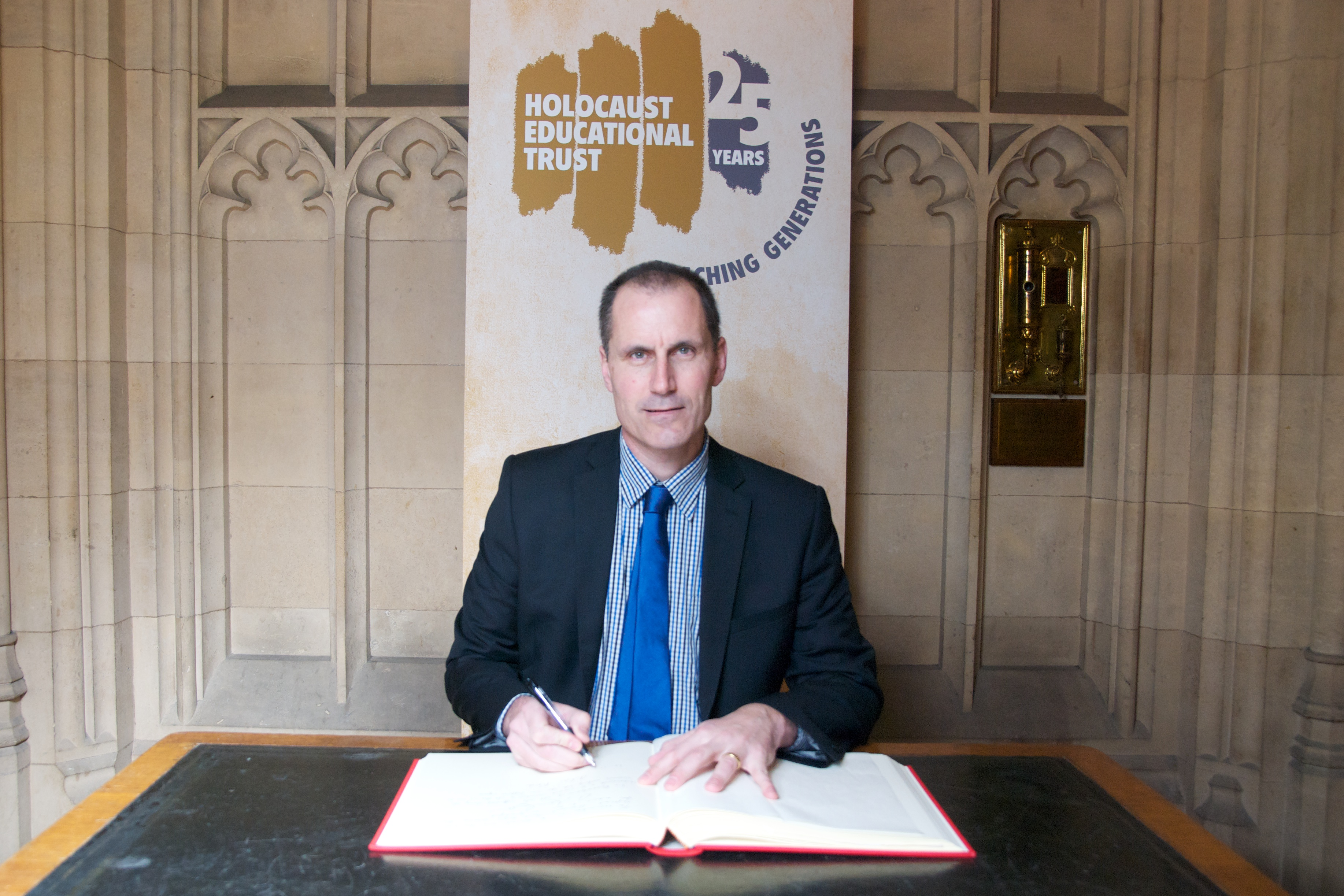 Sefton Central Labour MP Bill Esterson signed the Book of Commitment pledging his support of Holocaust Memorial Day.