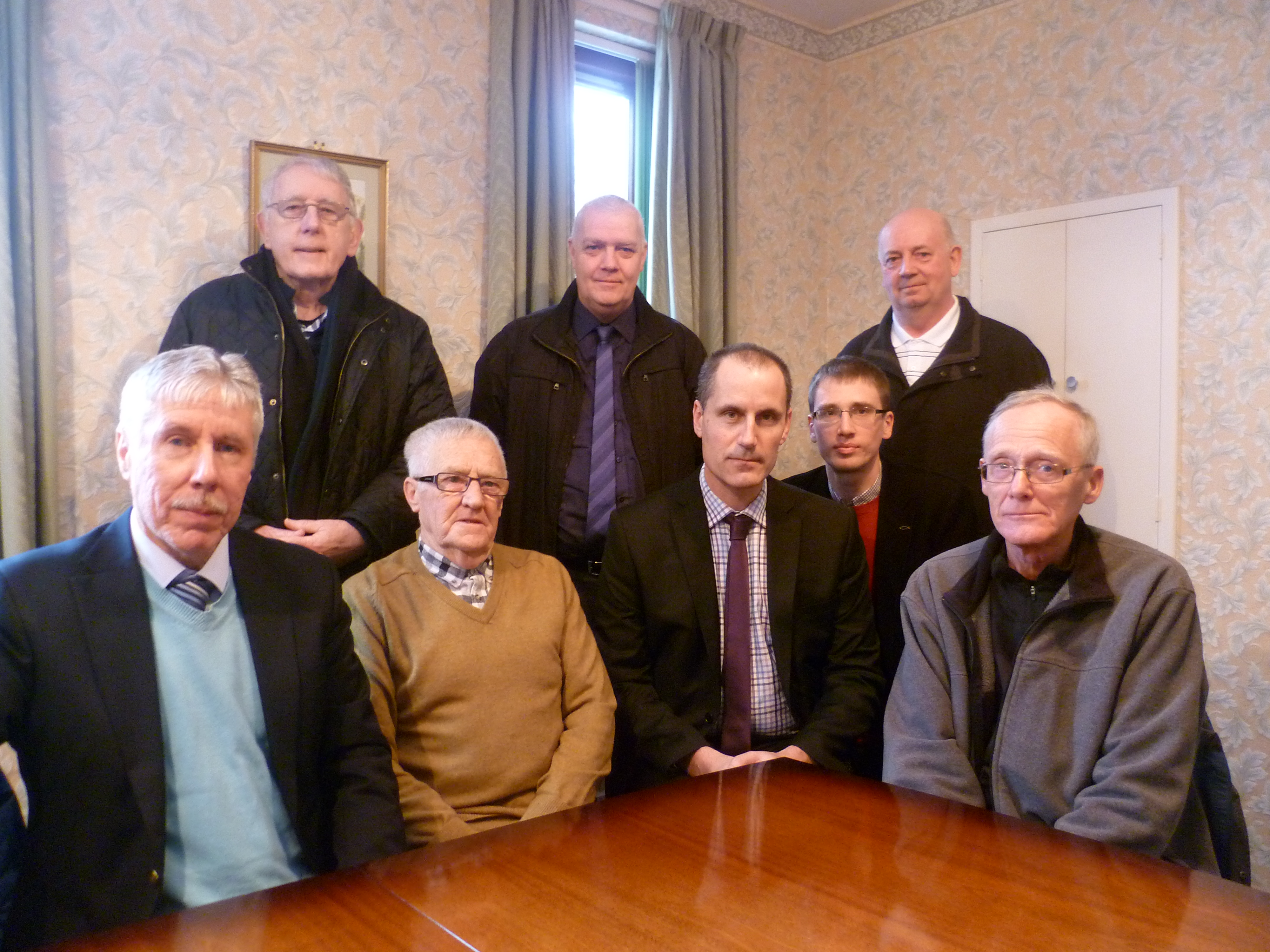 Sefton Central Labour MP Bill Esterson meets with Aintree Village's church leaders  and Aintree Village and Melling parish councillors to discuss ways to save the library.