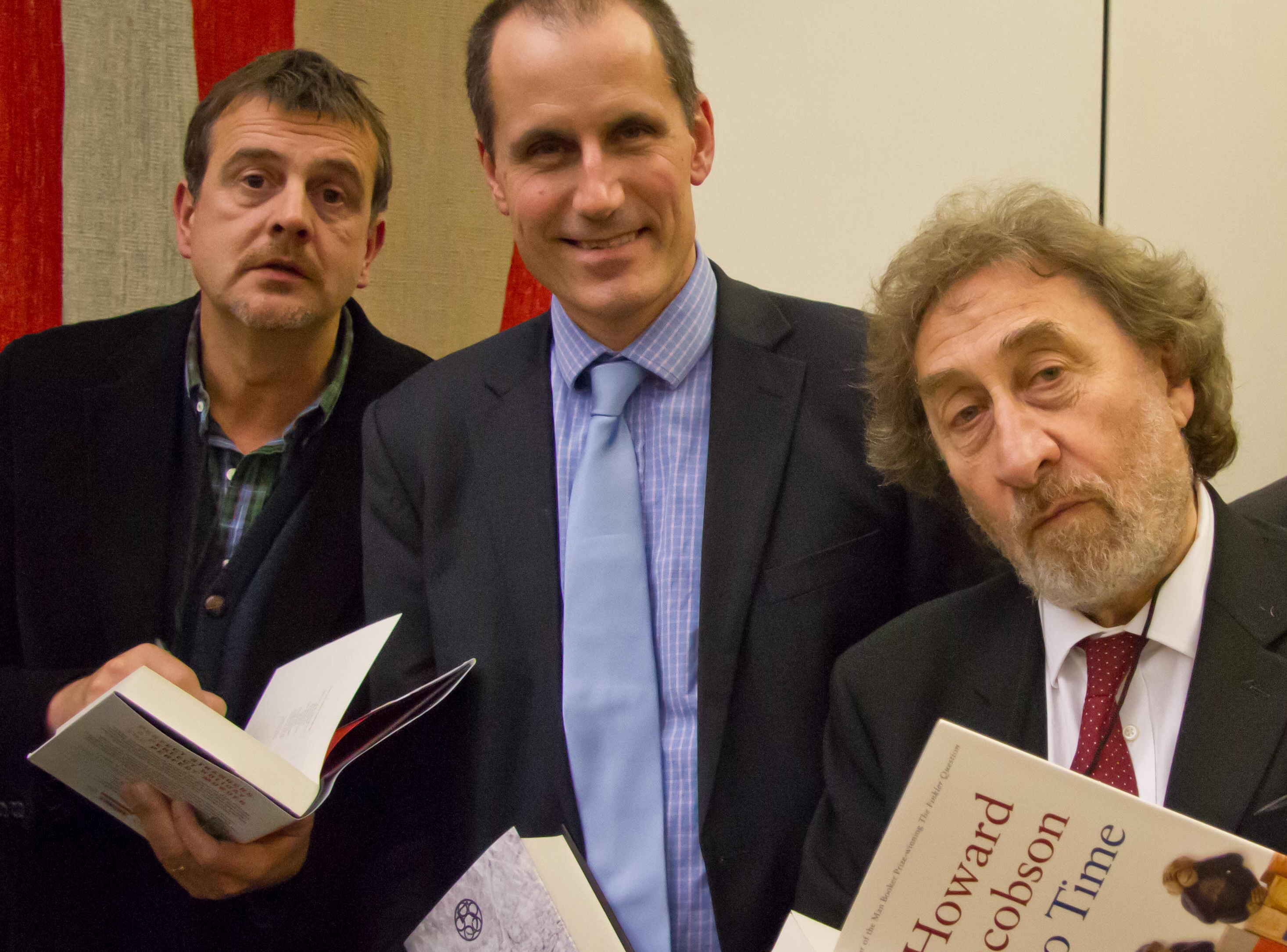 Sefton Central Labour MP Bill Esterson with renowned authors Mark Billingham and Howard Jacobson.