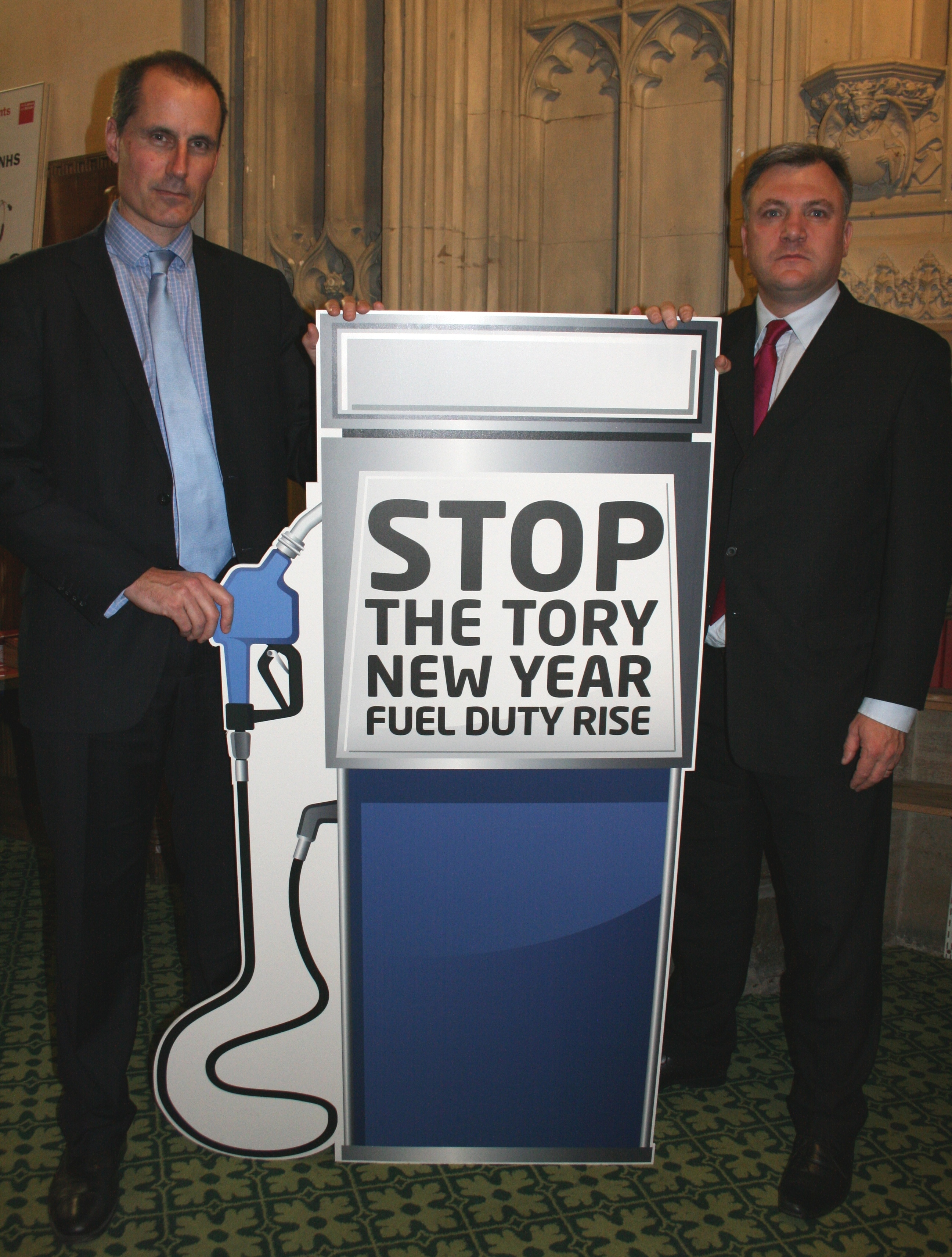 Sefton Central Labour MP Bill Esterson and Labour's Shadow Chancellor Ed Balls are calling on the Tory-Lib Dem Government to scrap the their plans for a new year fuel duty hike.