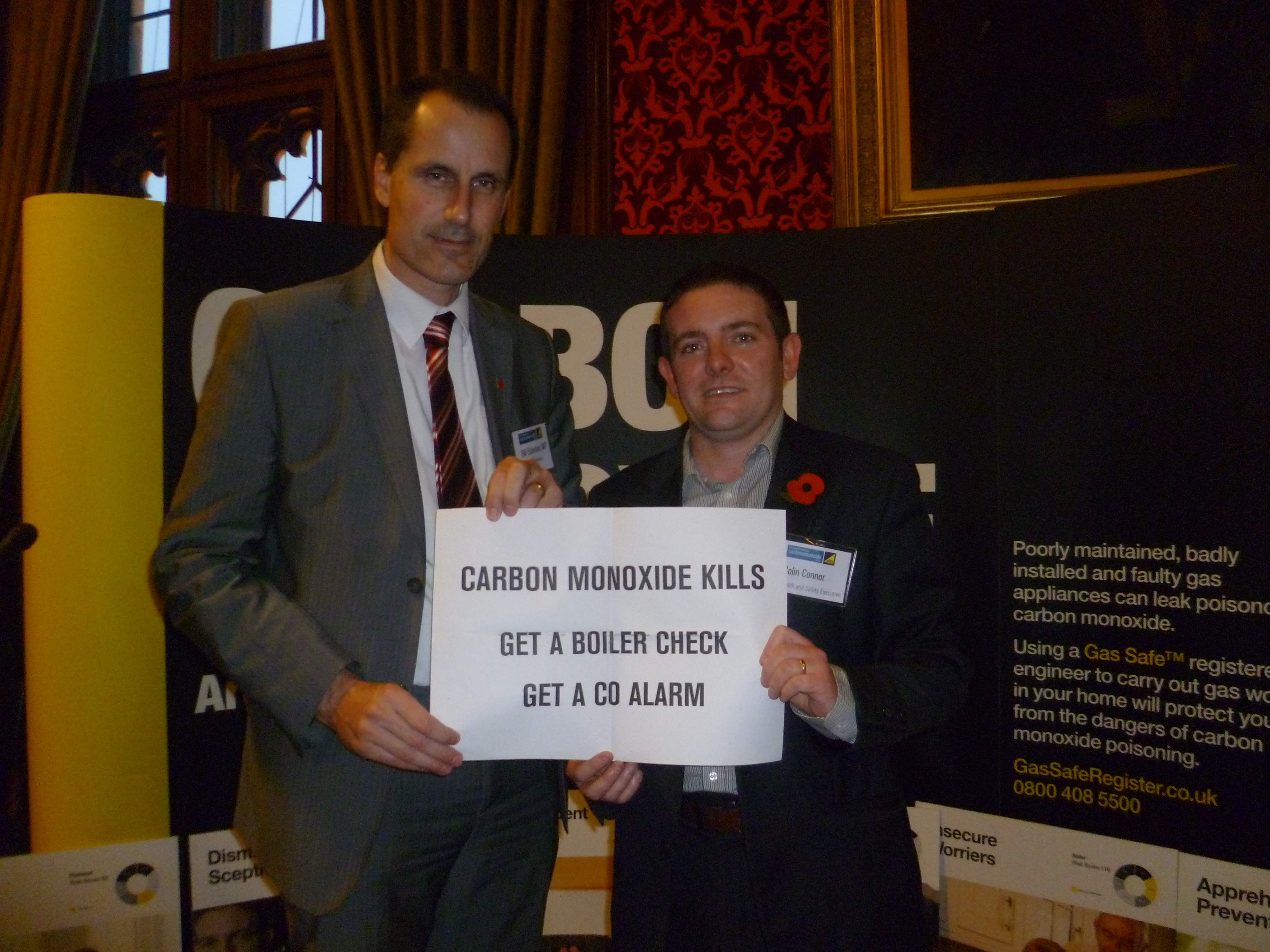 Sefton Central Labour MP Bill Esterson with Gas Safe expert Colin Connor during his visit to Parliament.