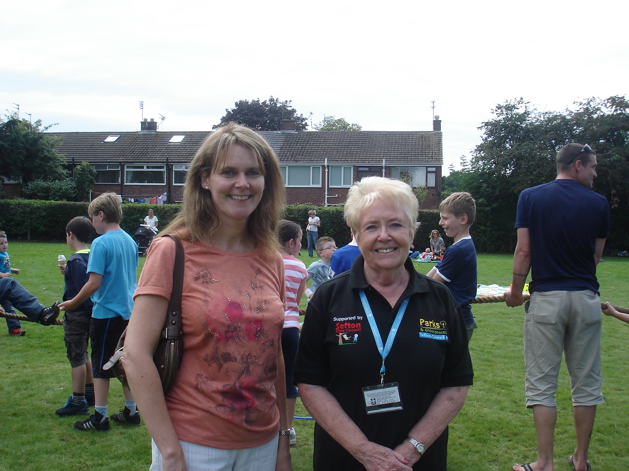 Sudell Ward Labour Councillor Lynn Gatherer with Maghull Town Council Labour Councillor Rita Knight at the Glenn Park Summer Fun Day.