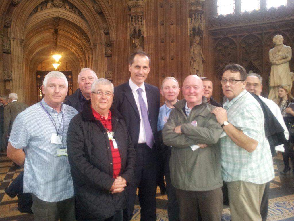 Sefton Central Labour MP Bill Esterson with some of the taxi drivers from Merseyside who lobbied MPs in Parliament about plans to deregulate taxis.