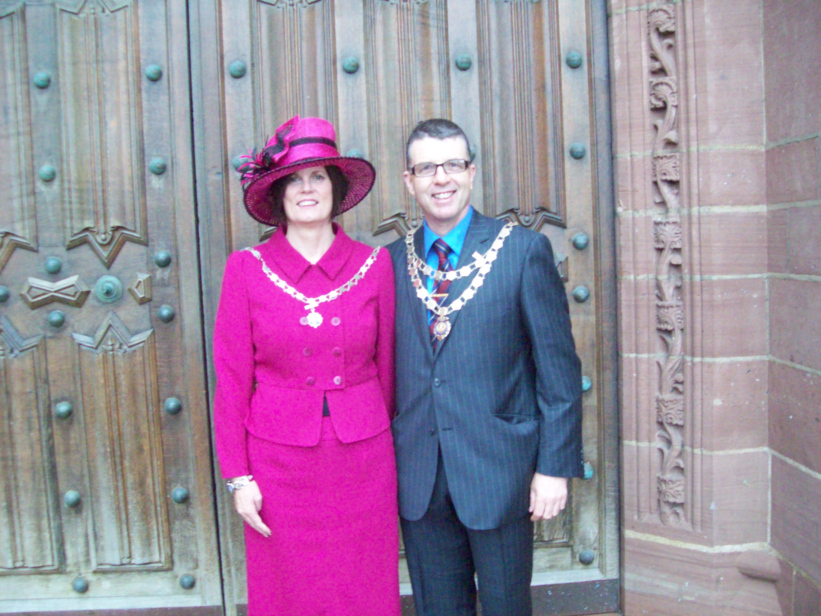 Mayor and Mayoress of Maghull, Labour's Cllrs Steve and Gwen Kermode at Liverpool Cathedral for the Amred Forces Day Service.