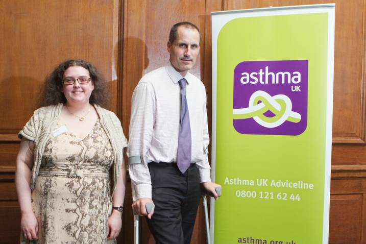 Sefton Central Labour MP Bill Esterson with Asthma UK Champion Julia Kerr.
