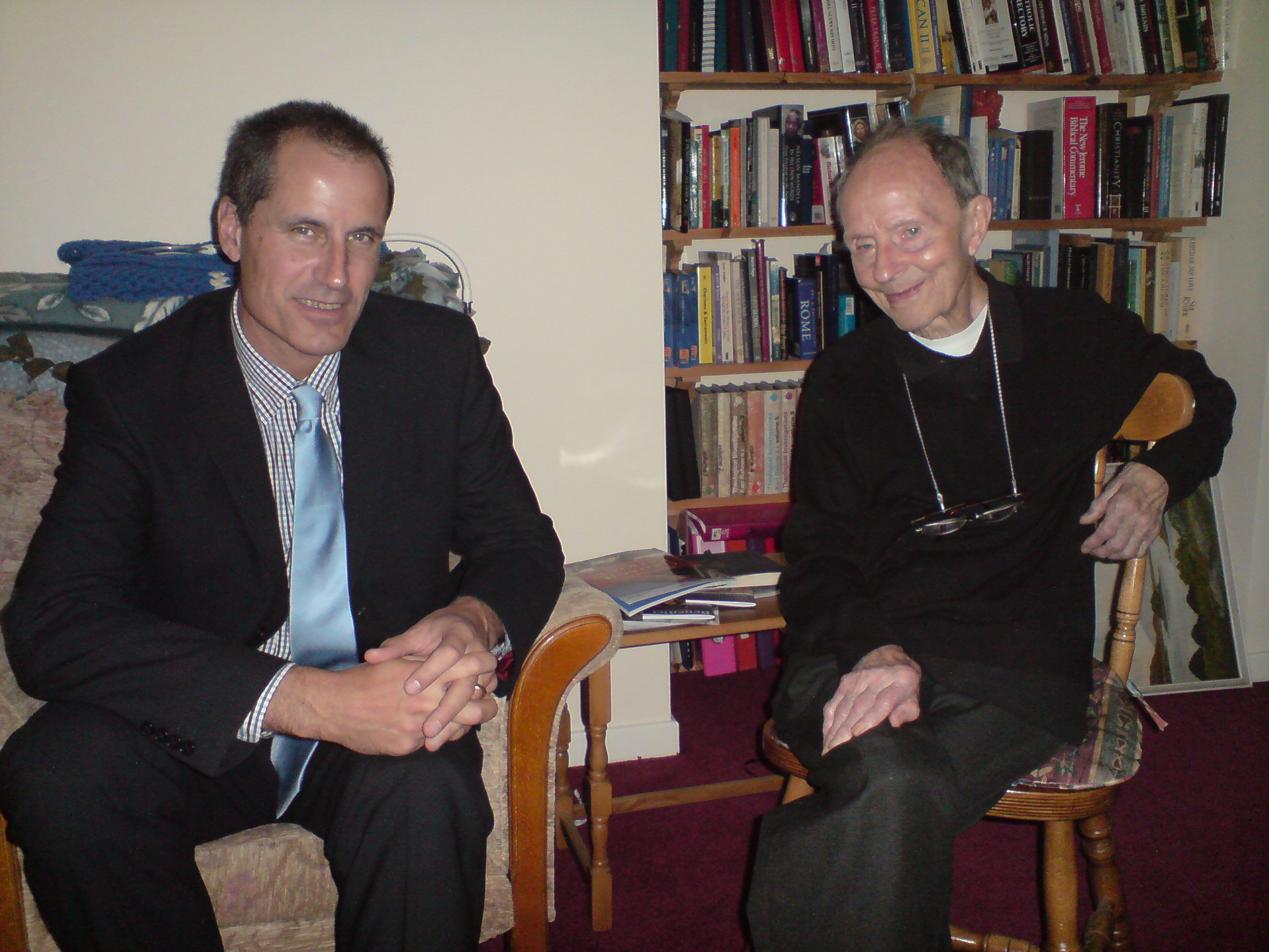 Bill Esterson and Fr Jimmy Collins