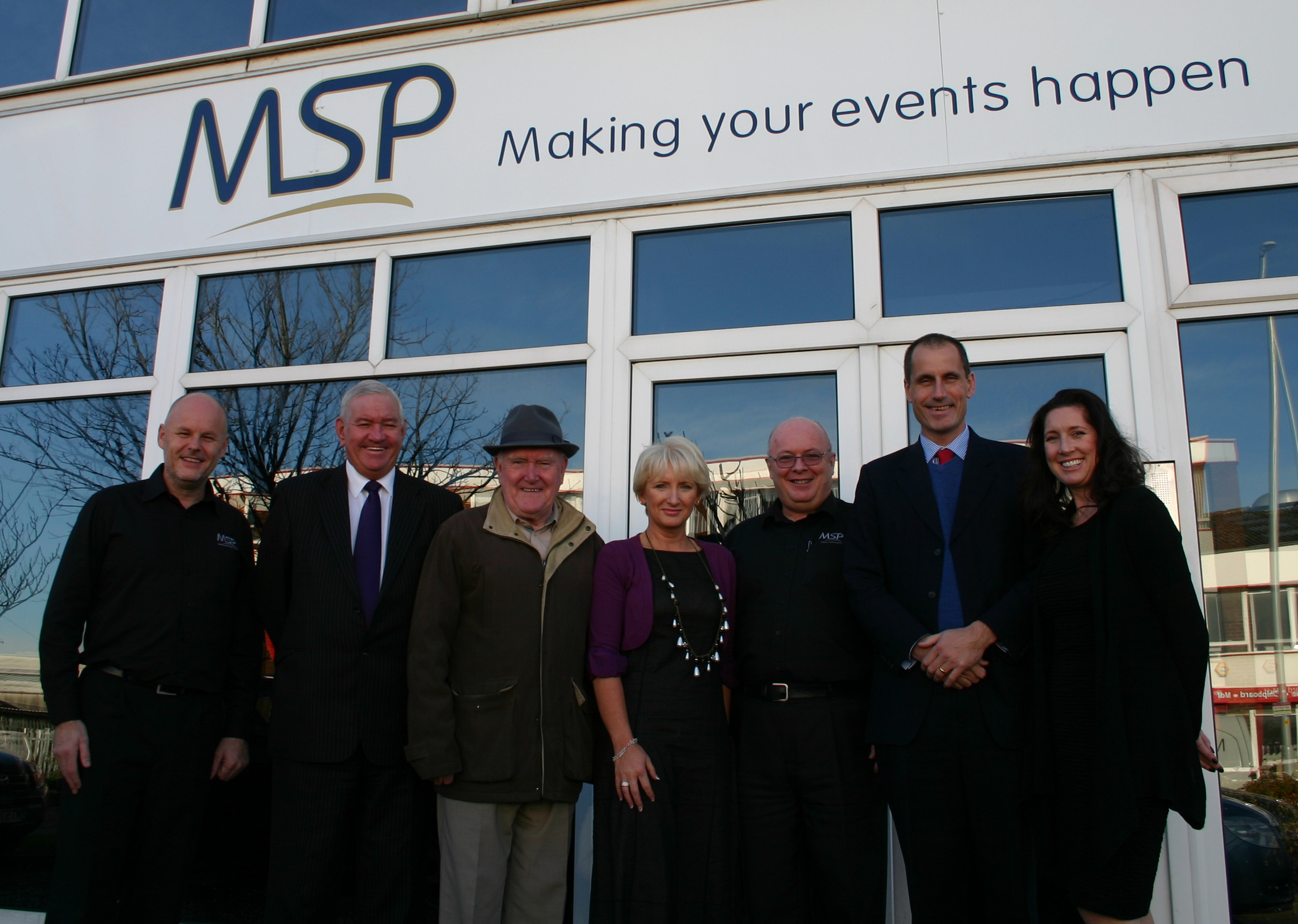 Sefton Central Labour MP Bill Esterson with Labour Councillors Mark Dowd and Jimmy Mahon, MSP's Colin Reader, Lisa Richards and staff.