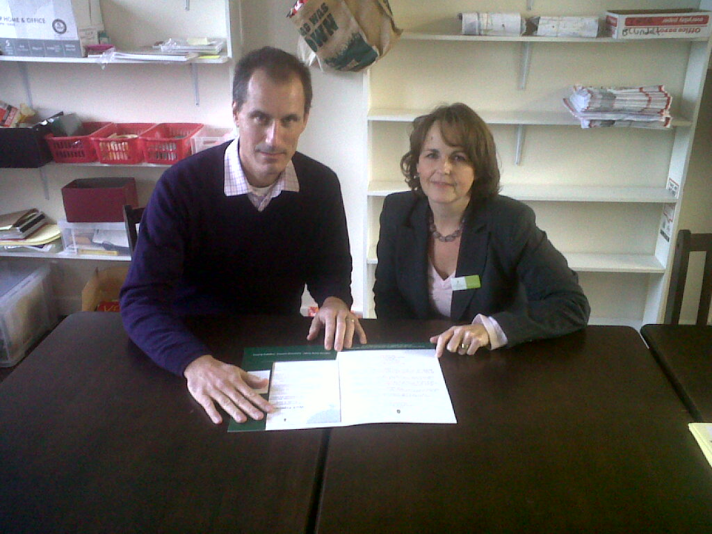 Sefton Central Labour MP Bill Esterson with Sefton Education Business Partnership manager Gill Ditchburn.