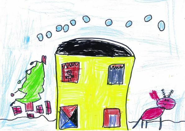 Cameron Maudsley's winning Christmas card design