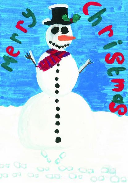 Alexandra Kritikos' winning East Sefton Christmas Card design
