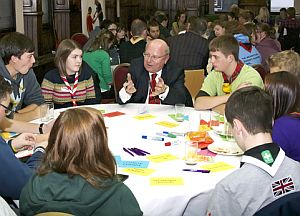 mike and scouts at conference