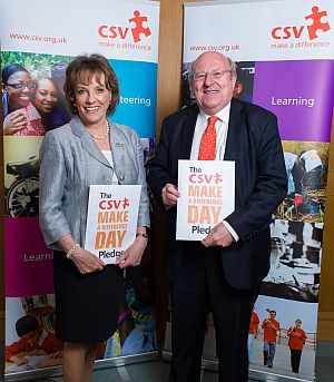 mike with esther rantzen at make a difference day 2012