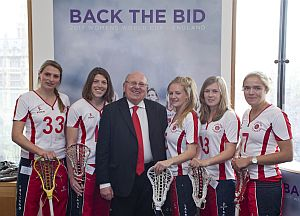 mike with lacrosse team