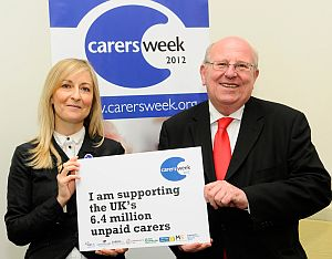 mike and fiona philips at carers week launch