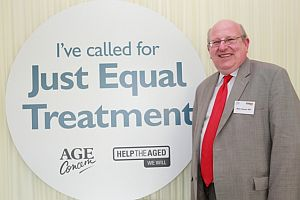 mike at age concern event
