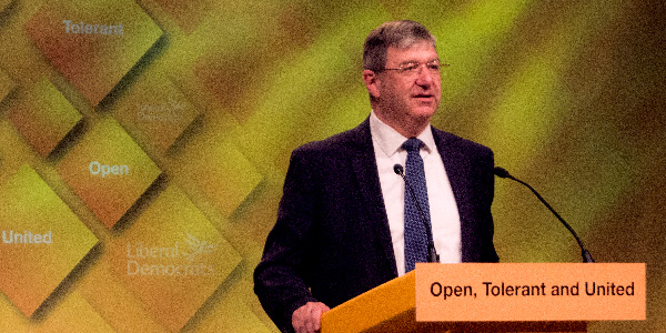 Alistair Carmichael speaking at our last Autumn Conference