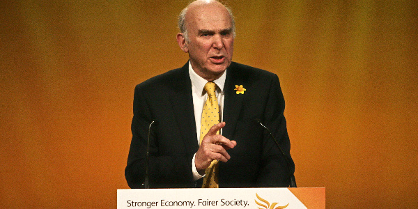 Vince Cable speaking at conference