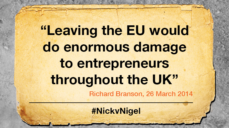 Richard Branson Britain should remain In Europe