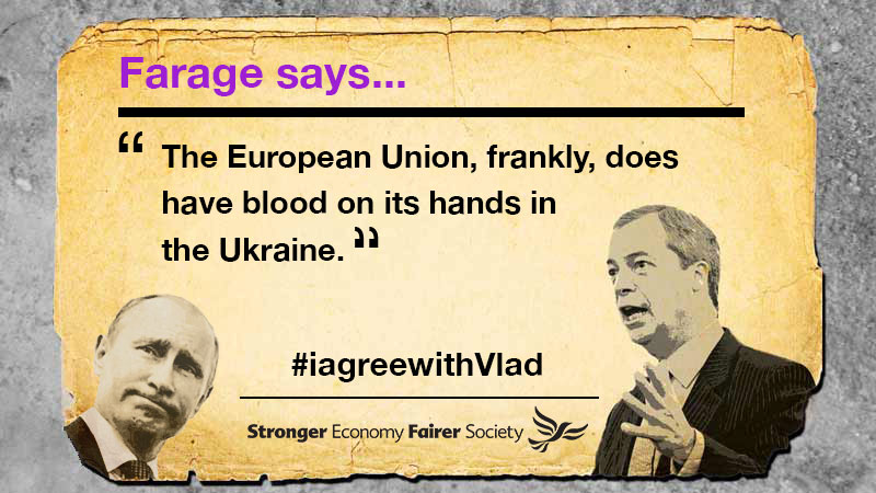 Nigel Farage EU blood on its hands Ukrain