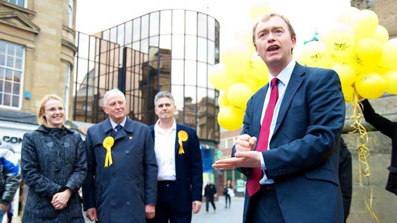 North Each Lib Dem European elections campaign launch with Tim Farron