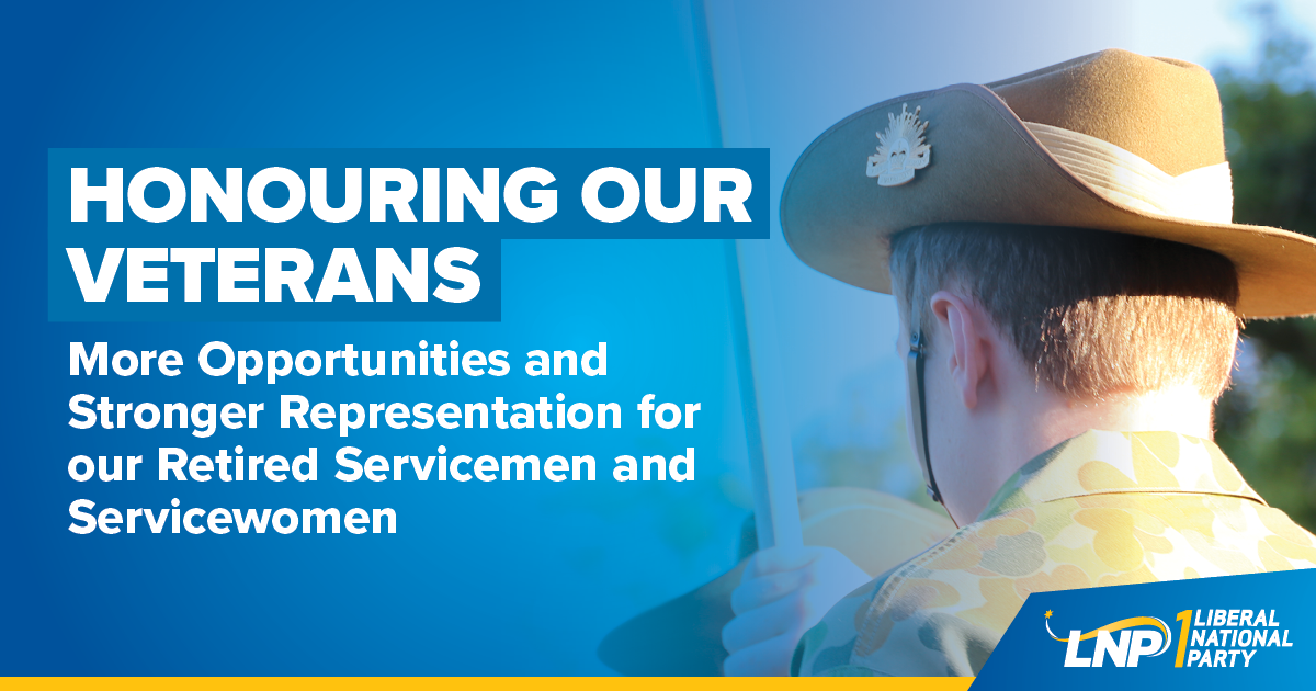 Queenslands first Veterans' Affairs Policy Image