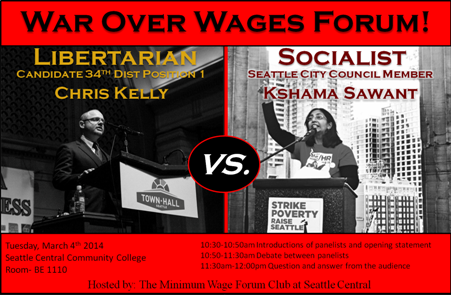 Libertarian Candidate to Debate Socialist City Council Member on March 4th!