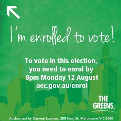 Make sure you are enrolled to vote by 8pm tonight