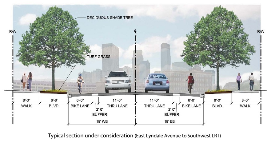 County proposal with no bike lanes