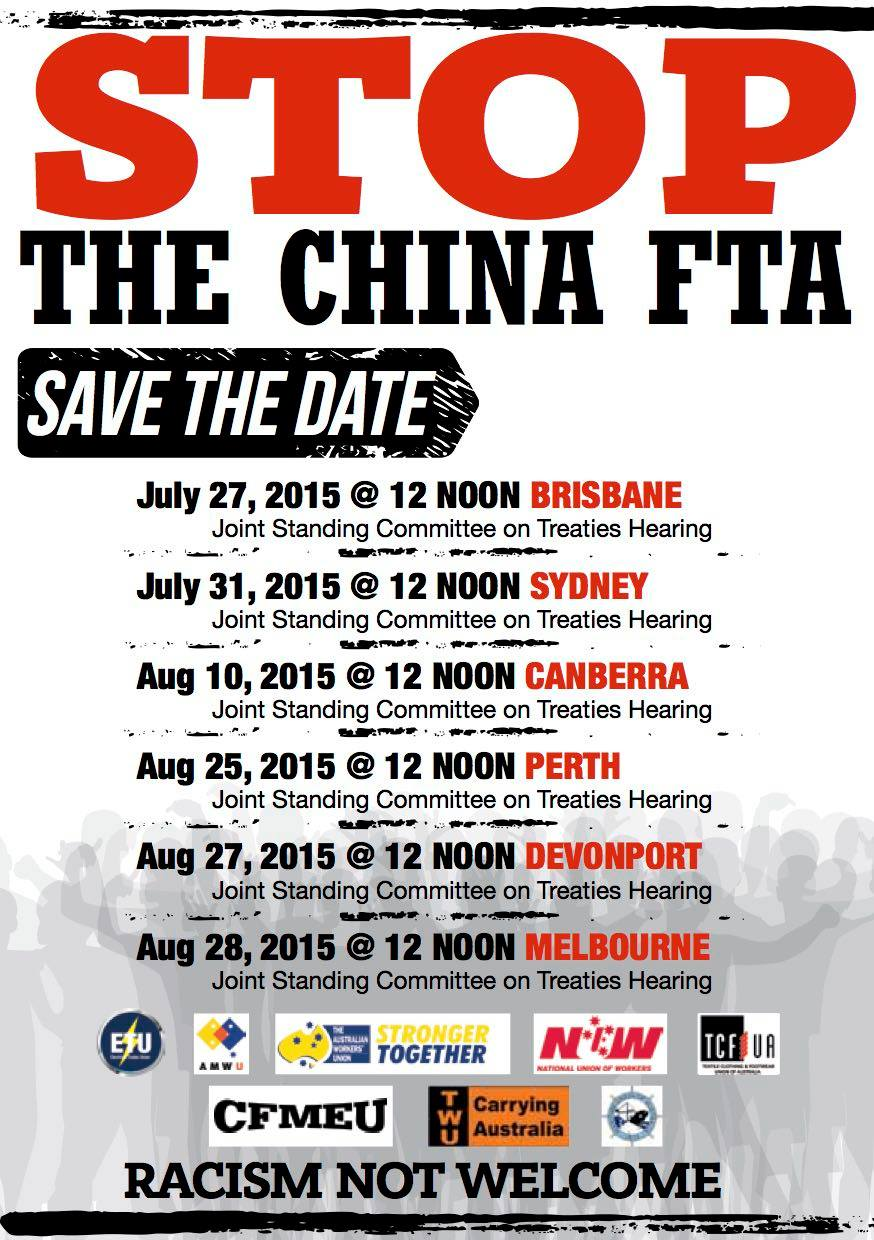 Rally against the china free trade agreement maritime union of rally against the china free trade agreement maritime union of australia platinumwayz