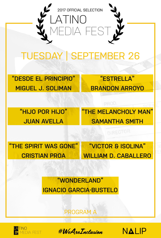 Latino Media Fest Program A