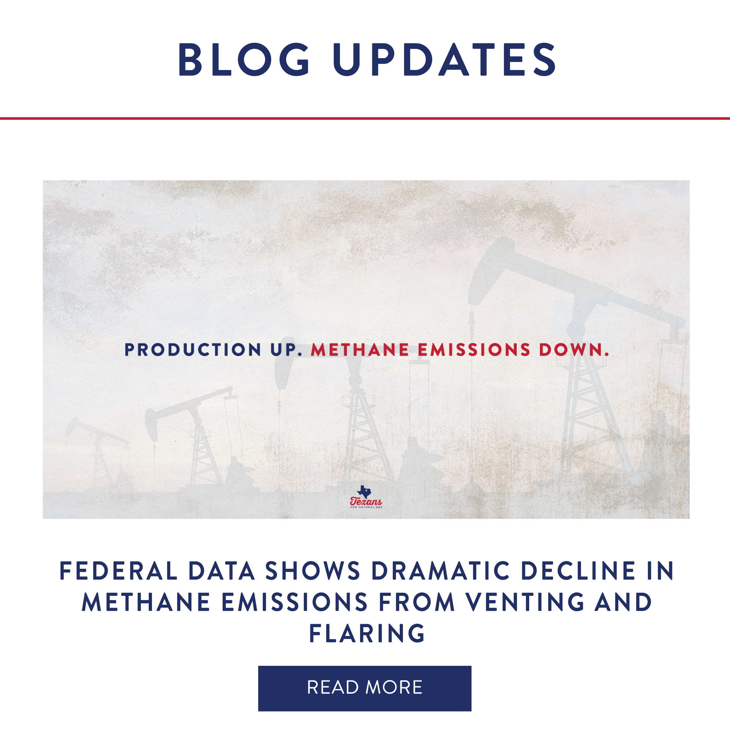 Federal Data Show Dramatic Decline in Methane Emissions from Venting and Flaring