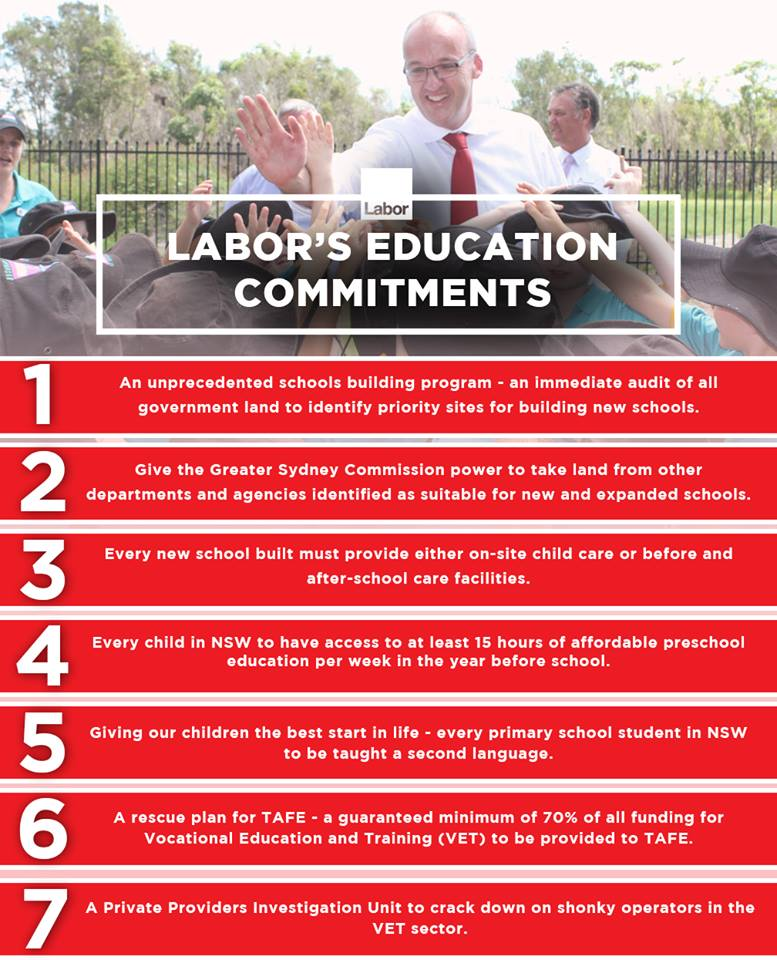Education commitments