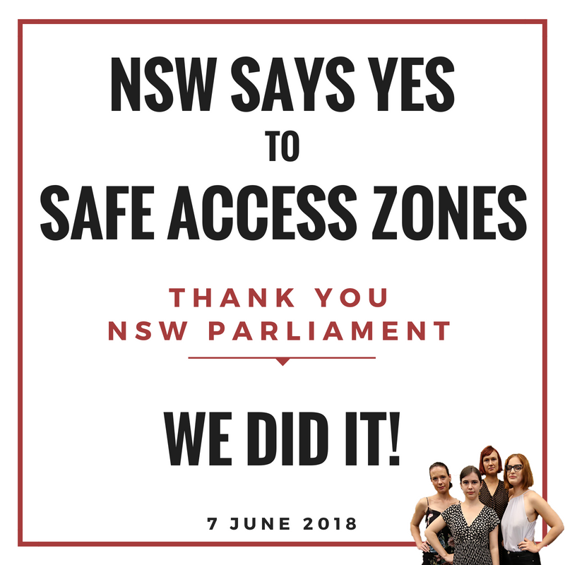 150m safe access zones around abortion clinics now in place in NSW
