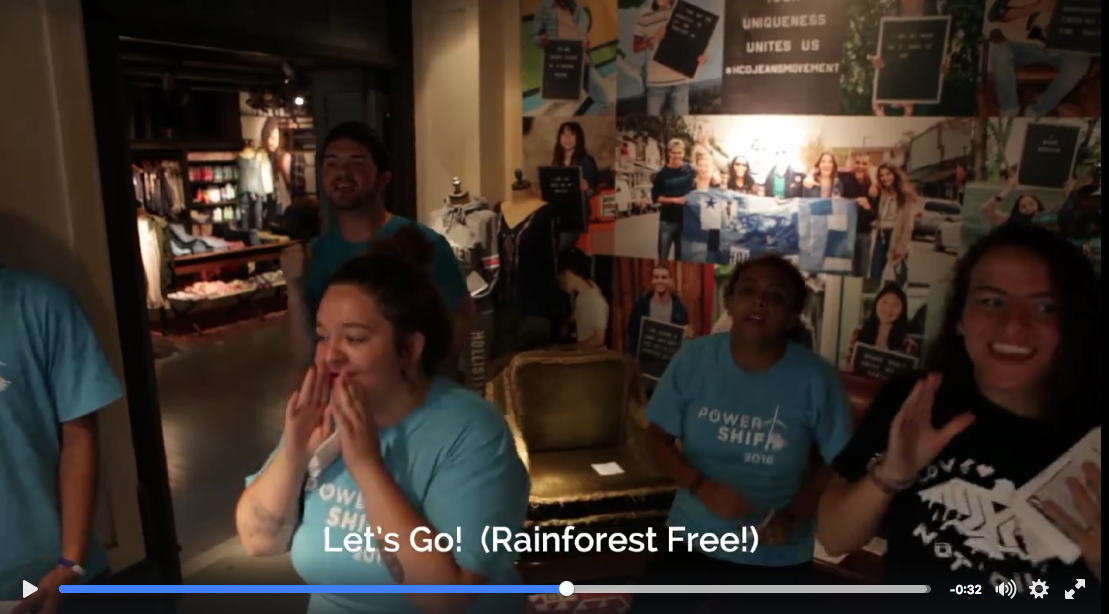 Video: A Dozen Youth Leaders Flash Mob Hollister Store