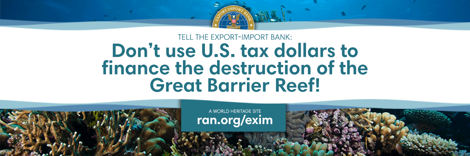Export-Import Bank: Don't finance destruction of the Great Barrier Reef